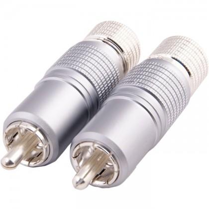 Connecteurs RCA verrouillables et sans soudure (la paire)