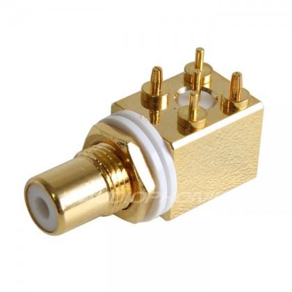 Audiophonics ER-102 Embase RCA pour CI Blanche (unité)