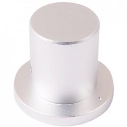 """Bouton aluminium 34×22×29mm """"Chapeau"""" Axe méplat Ø6mm"""