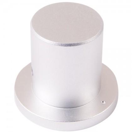 Bouton Aluminium Style Chapeau Axe Méplat 34×22×29mm Ø6mm