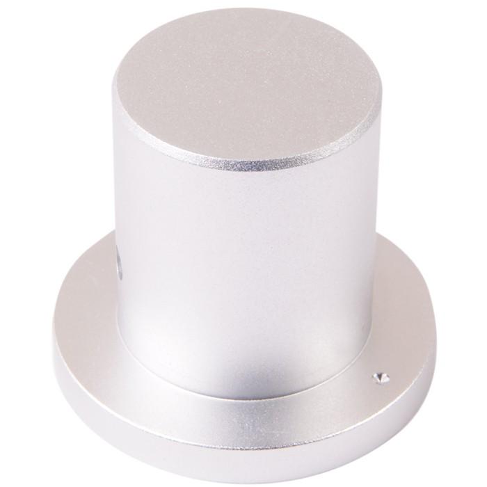 Bouton Aluminium Style Chapeau Axe Méplat 34x22x29mm Ø6mm
