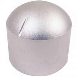 "Aluminum Button 29 × 30mm ""Dome"" Flat Axis Ø6mm"