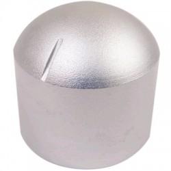 Bouton Aluminium Axe Méplat Style Dôme 29×30mm Ø6mm