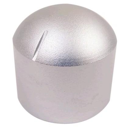 "Bouton aluminium 29×30mm ""Dôme"" Axe méplat Ø6mm"