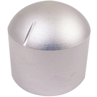 "Aluminum Button 29 × 30mm ""Dome"" Flat Axis Ø6mm"