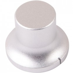 "Aluminum Button 34 × 22 × 26mm ""Power Plant"" Flat Axis Ø6mm"