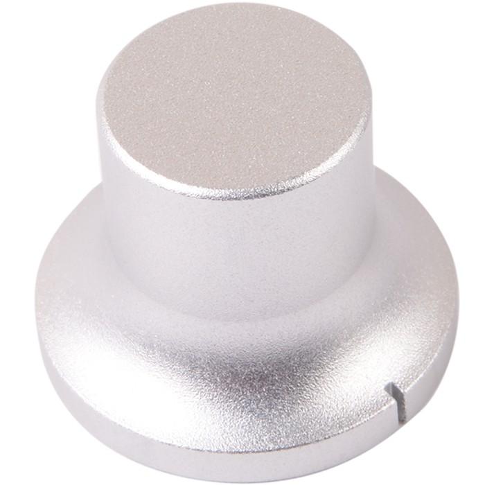"Bouton aluminium 34×22×26mm ""Power Plant"" Axe méplat Ø6mm"