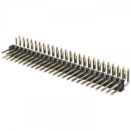 2x25 angled Pin Header Pitch 2.54