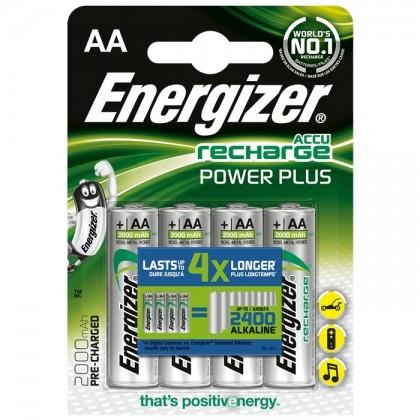 Energizer Power Plus Accu NiMh HR6 AA 1.2V 2000mA (Set x4)