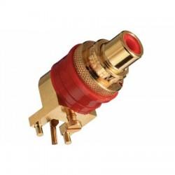 WBT-0234 Embase RCA pour PCB à souder Cuivre OFC plaqué Or Rouge (Unité)