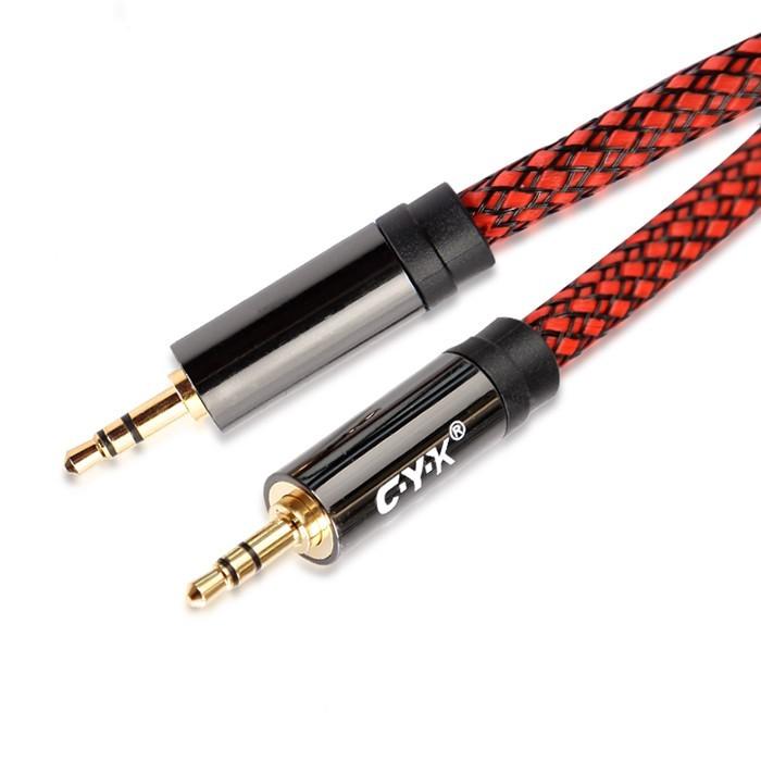 CYK Câble de modulation Jack 3.5mm - Jack 3.5mm Cuivre OFC plaqué Or 24K 3m