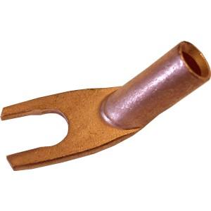 Mundorf Fourches 100% cuivre OFC non-etamée coudée Ø 8.4mm (La paire)