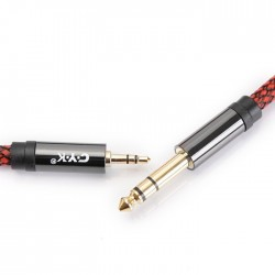 CYK Câble de modulation Jack 3.5mm - Jack 6.35mm Cuivre OFC plaqué Or 24K 3m