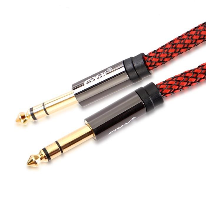 CYK Câble de modulation Jack 6.35mm - Jack 6.35mm Cuivre OFC plaqué Or 24K 3m