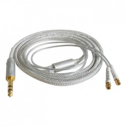 1877 PHONO Zavfino Cali Câble SMC vers Jack 6.35mm Cuivre PC-OCC plaqué Or 24K White 1.8m