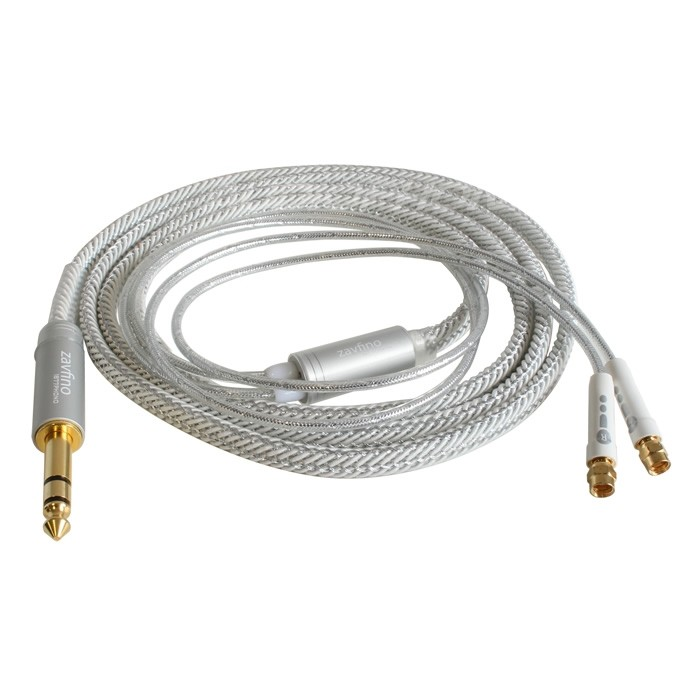 1877PHONO CALI SMC 6.35-SMC Jack 6.35mm to SMC Cable for HIFIMAN PC-OCC White 3m