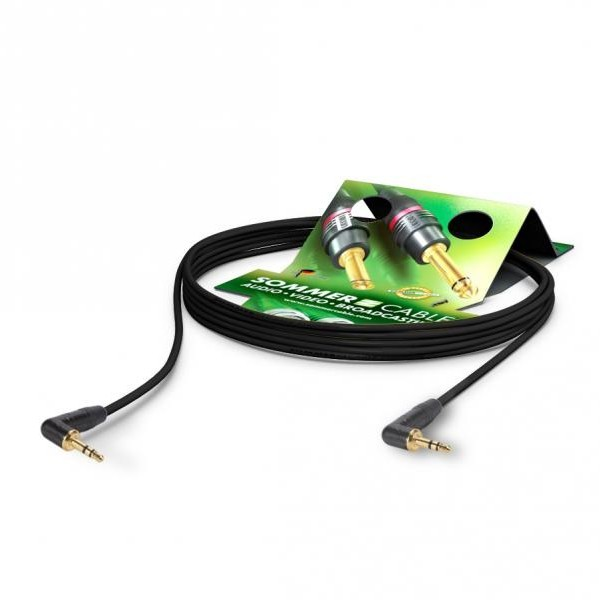 SOMMERCABLE CICADA Jack / Jack 3.5mm angled cable 2x0.14mm² 1m