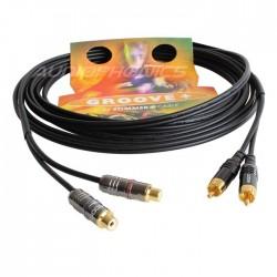 SOMMERCABLE ONYX Câble asymétrique RCA mâle / femelle OFC 2x0.25mm² 5m