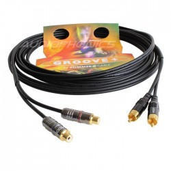 SOMMERCABLE ONYX RCA Cable male / female OFC 2x0.25mm² 5m