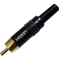 HICON CM06-BLU Connecteur RCA plaqué Or Ø8.4mm (Unité)