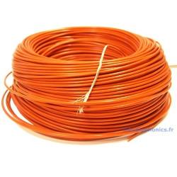 Câble Cuivre / Argent Isolé PTFE 1.23mm² (Rouge)