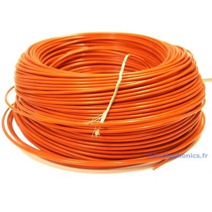 Câble Cuivre/Argent Isolé PTFE 1.23mm² (Rouge)