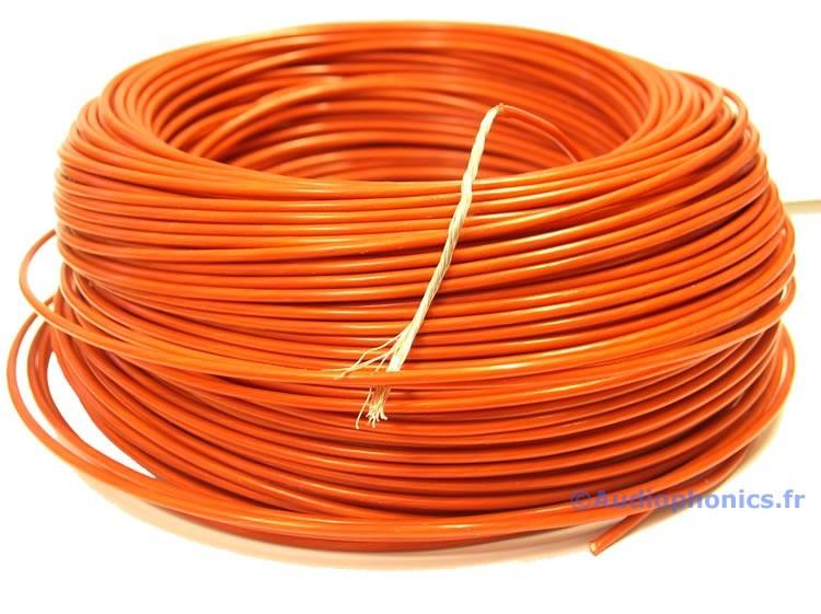Fil de câblage multibrins Cuivre / Argent Isolé PTFE 1.23mm² Rouge