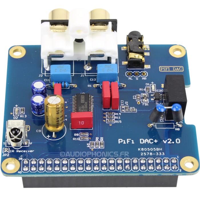DAC PCM5122 32Bit / 384kHz pour Raspberry Pi 3 / Pi 2 / A+ / B+ / I2S