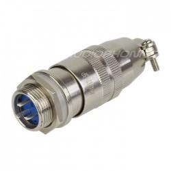Snap-fit XS12 K3P plug 3 pin 250V 3A Ø 7mm