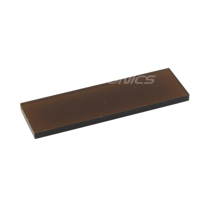 Plaque acrylique ambrée pour écran / afficheur Boitier DIY 59x19x3mm