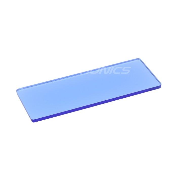 Plaque acrylique bleue pour écran / afficheur Boitier DIY 64x25x2mm