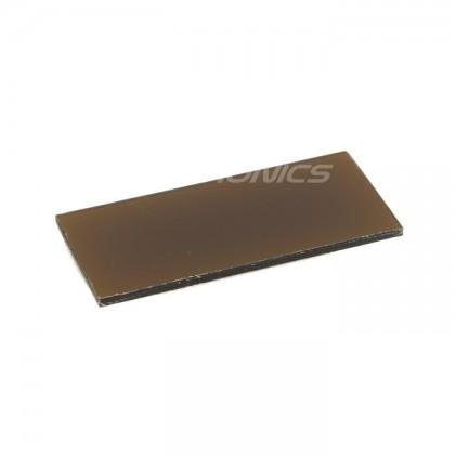 Ecran / Afficheur Acrylique ambré pour Boitier DIY 48x22x1.5mm