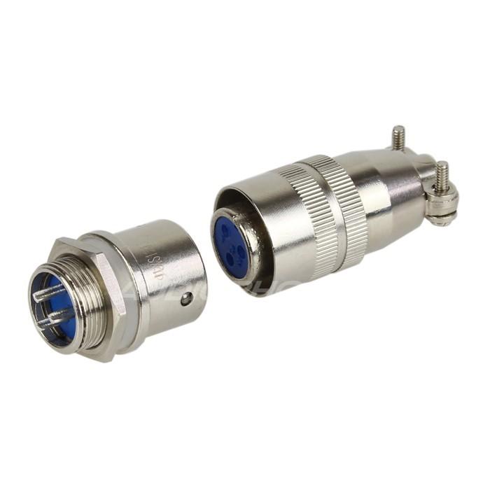Snap-fit XS12 K3P plug 3 pin 250V 3A Ø7mm