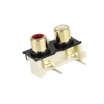 Monacor T-720G Embase RCA pour circuits imprimés