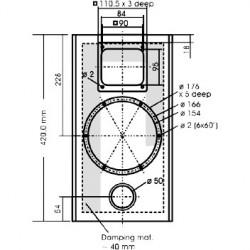 Kit DIY Supravox 285GMF 215s Tweeter Panneau plan