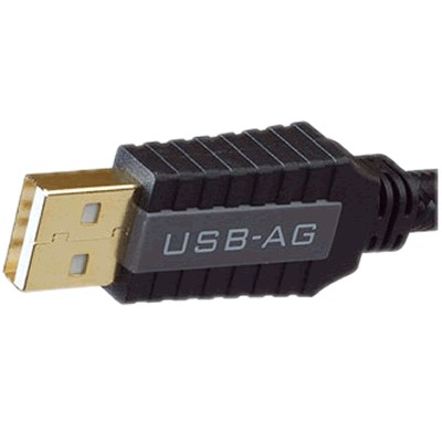 PANGEA USB-AG Câble USB-A Male/USB-B Male 2.0 Argent pur plaqué Or 24k 0.5m