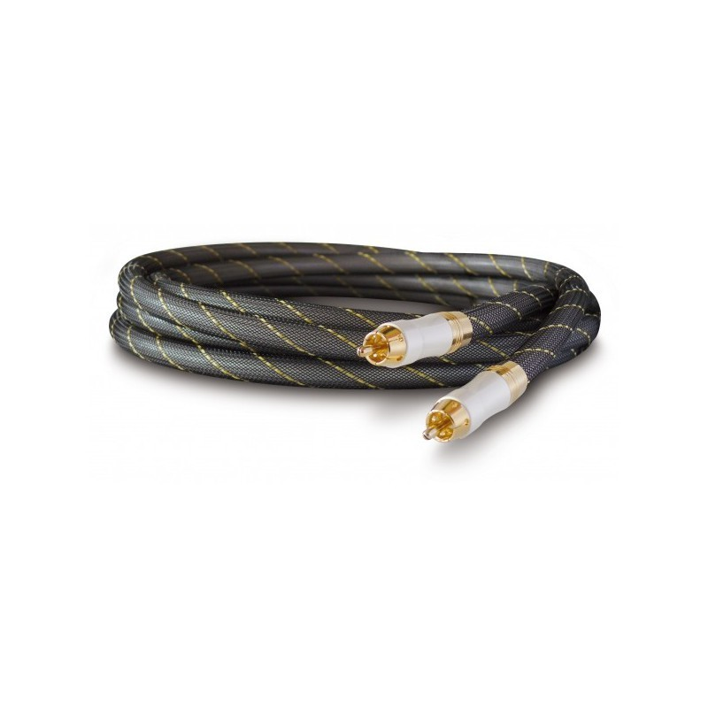 DYNAVOX Câble de Modulation OFC Plaqué Or RCA-RCA 1.5m