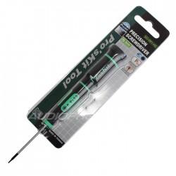 Pro'sKit SD-081-H2 Tournevis Hex de Précision 0.9x50mm