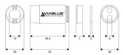 Viablue SC-2 Splitter 1x12mm vers 2x5mm