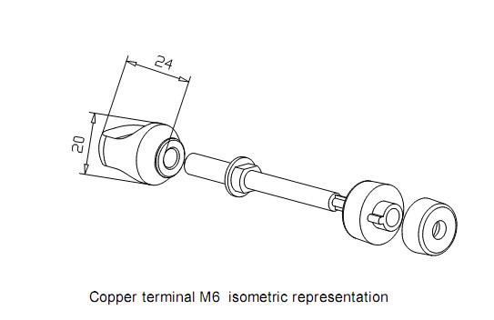 Mundorf Mconnect TPCU670GC Borniers 6mm Cuivre OFC Plaqué Or (La paire)