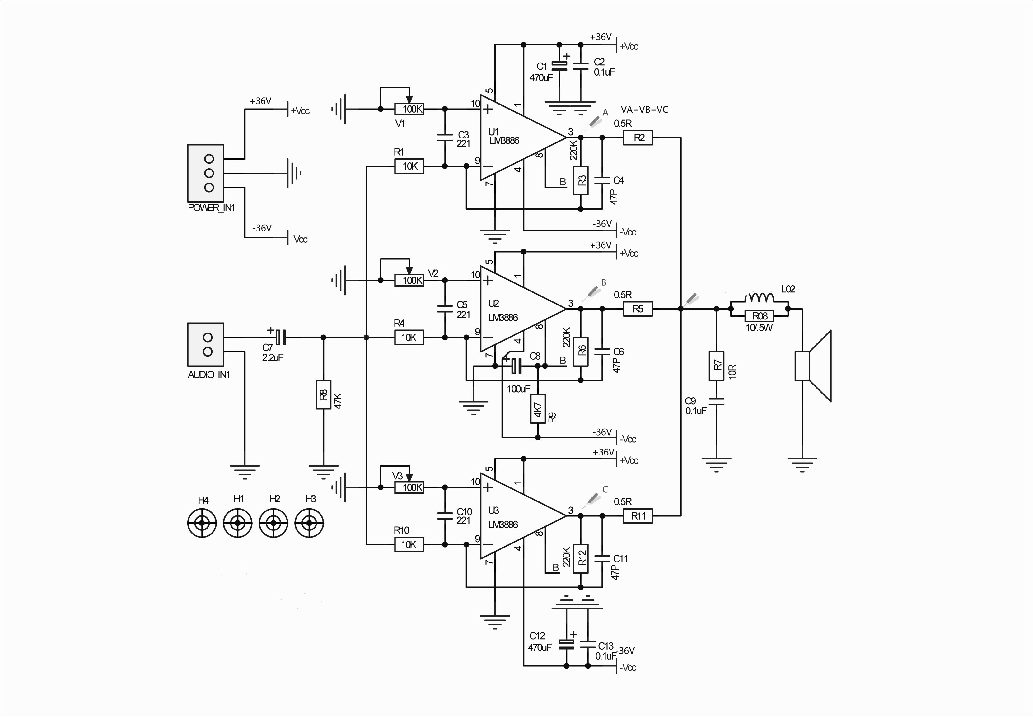 audiophonics apd85 module amplificateur mono lm3886 100w