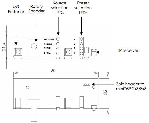 VOL-FP Contrôleur de volume MiniDSP