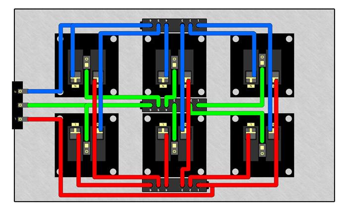 Schéma de câblage DISTRIBUTEUR SECTEUR MPC6 V2