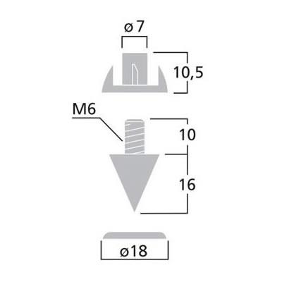 Dimensions MONACOR SPS-10