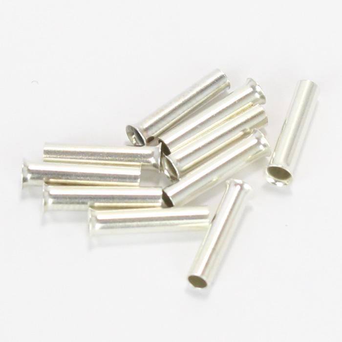 Embouts de câble plaqués Argent 1.5mm² (10mm) (2)