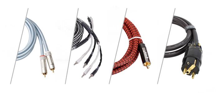 Différent types de câbles audio HiFi