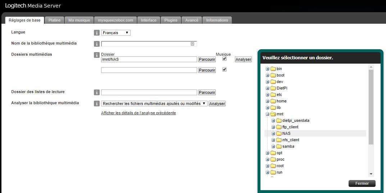 Configuration Dossier LMS
