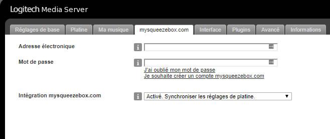LMS compte mysqueezebox