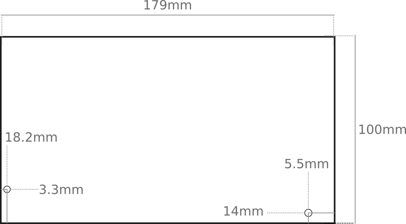 Center Mounting hole spacing and dimensions