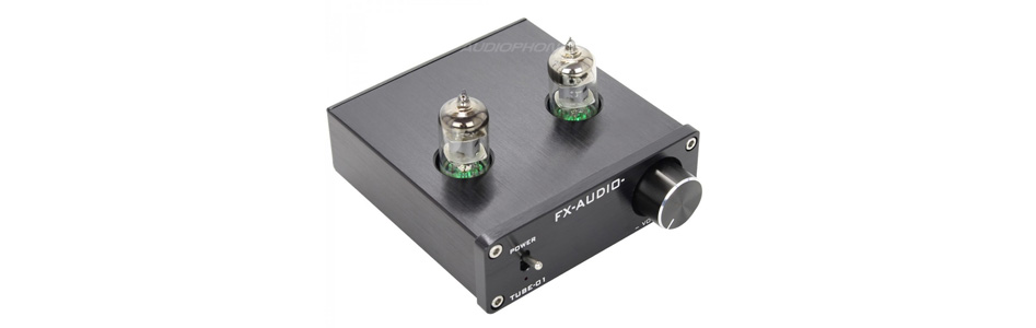 FX-Audio Tube-01 Préamplificateur à Tubes 6J1 Stéréo Noir